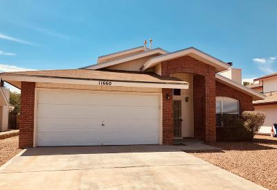 El Paso Single Family Home For Sale: 11660 Great Spirit Circle