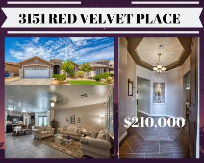 El Paso Single Family Home For Sale: 3151 Red Velvet Place