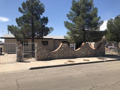 El Paso Single Family Home For Sale: 7330 Wilcox Drive