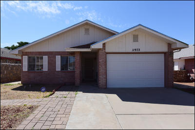 El Paso Rental For Rent: 11972 Cannon Hill Drive