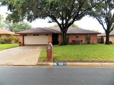McAllen TX Single Family Home For Sale: $144,000