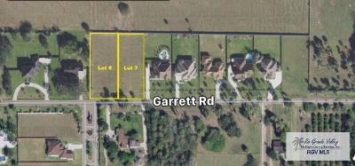Harlingen Residential Lots & Land For Sale: Lot 7 Garrett Road