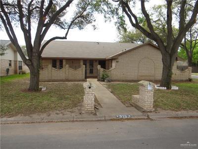 McAllen TX Single Family Home For Sale: $142,000