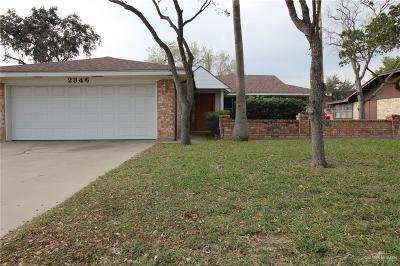 Harlingen Single Family Home For Sale: 2346 S 25th Street