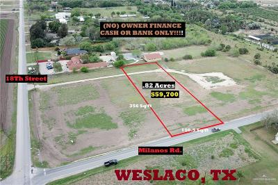 Weslaco Residential Lots & Land For Sale: 1708 S Milanos Road