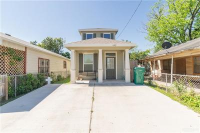 Pharr Single Family Home For Sale: 209 W Clark Avenue