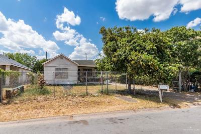 McAllen TX Single Family Home For Sale: $90,000
