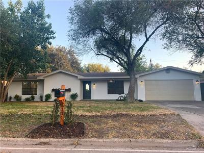 McAllen TX Single Family Home For Sale: $199,500