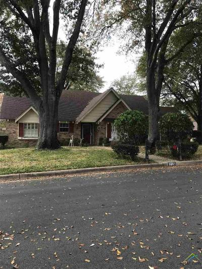 Tyler Single Family Home For Sale: 3801 Brookwood Drive