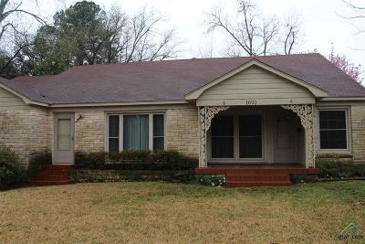 Tyler Single Family Home For Sale: 1601 Outer Dr