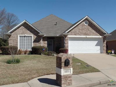Tyler Single Family Home For Sale: 1833 Hollylake Circle