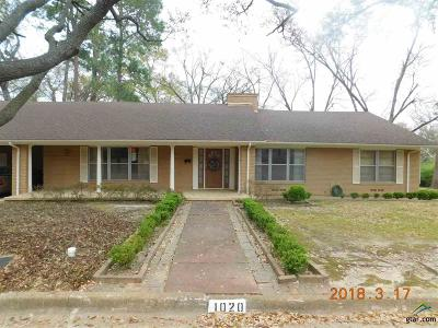 Tyler Single Family Home For Sale: 1020 Wilma