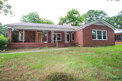 Tyler TX Single Family Home For Sale: $135,000