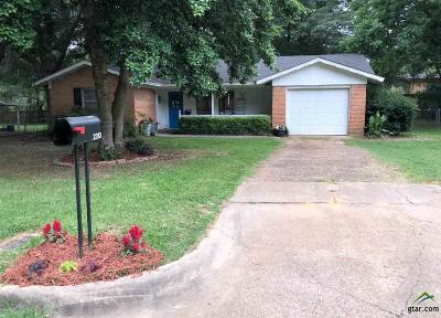 Tyler TX Single Family Home Sold: $125,000