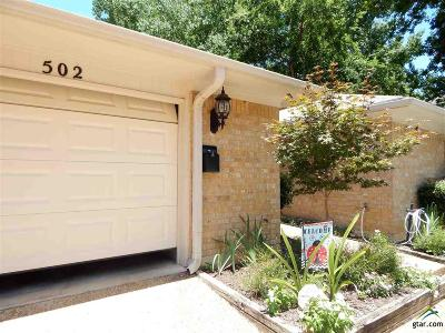 Tyler Condo/Townhouse For Sale: 502 Commons