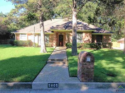 Tyler Single Family Home For Sale: 5805 Sheffield Dr