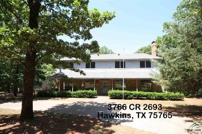 Hawkins TX Single Family Home For Sale: $325,000