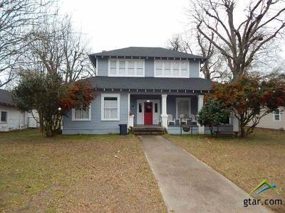 Gilmer Single Family Home For Sale: 513 E Cass