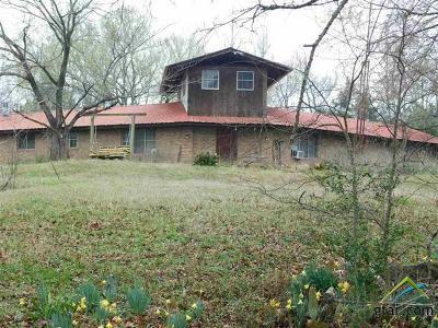 Gilmer Single Family Home For Sale: 6542 Bois D Arc