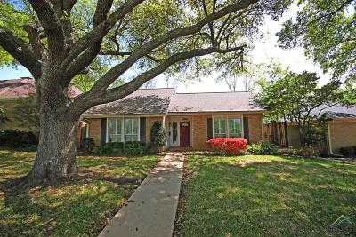 Tyler Single Family Home For Sale: 3216 Bain Place