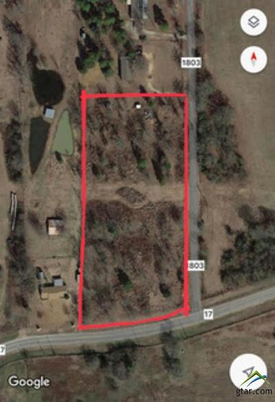 Grand Saline Residential Lots & Land For Sale: Vz County Road 1803