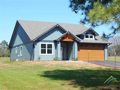 Gilmer Single Family Home For Sale: 2617 Bluebell Road