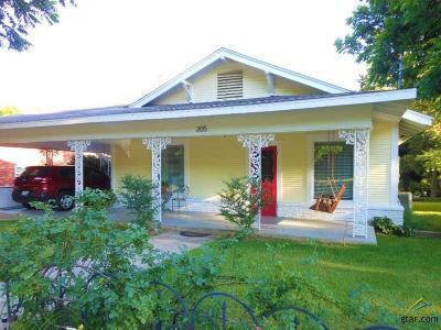 Big Sandy Single Family Home For Sale: 205 W Gilmer