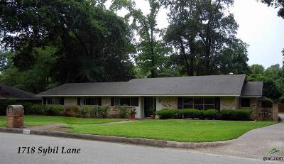 Tyler Single Family Home For Sale: 1718 Sybil Lane