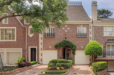 Houston TX Condo/Townhouse For Sale: $1,100,000