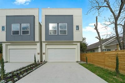 Houston Single Family Home For Sale: 3807 A Billingsley Street