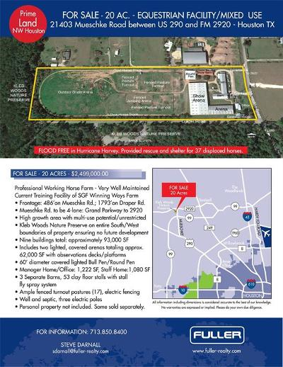 Tomball Farm & Ranch For Sale: 21403 Mueschke Road