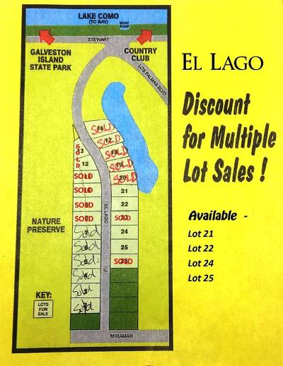Galveston Residential Lots & Land For Sale: 3821 El Lago Street