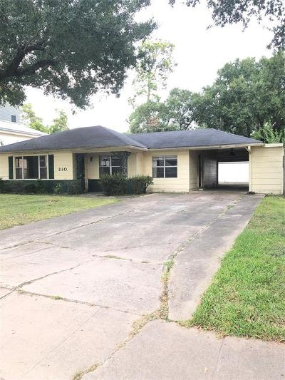 Houston Single Family Home For Sale: 1110 Grovewood Lane