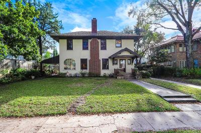 Houston Single Family Home For Sale: 222 Westmoreland Street