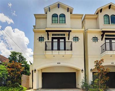 Houston Single Family Home For Sale: 4609 Rose Street