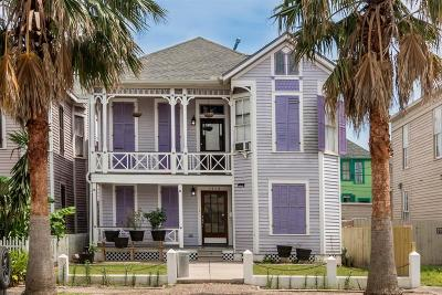Galveston Single Family Home For Sale: 1715 Market Street