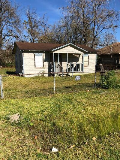 Houston TX Single Family Home For Sale: $49,500