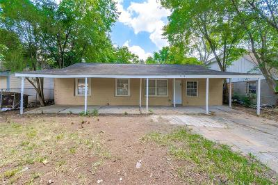 Houston TX Single Family Home For Sale: $130,000