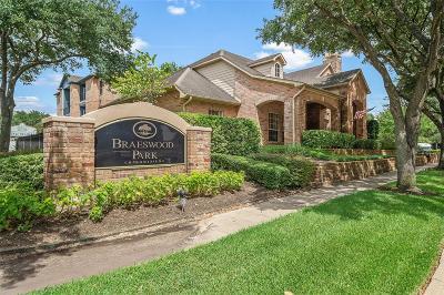 Houston Condo/Townhouse For Sale: 2255 Braeswood Park Drive #167