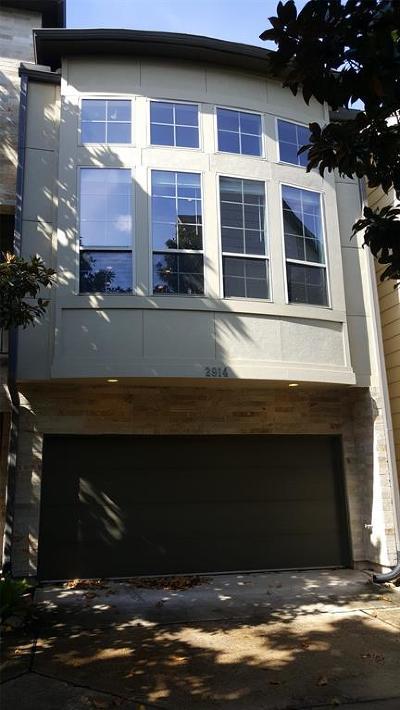 Houston Condo/Townhouse For Sale: 2914 Leeland Street