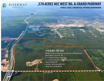 Harris County, Waller County, Grimes County, Fort Bend County, Washington County, Montgomery County Farm & Ranch For Sale: W Grand Off Parkway