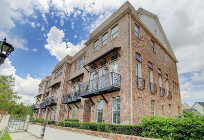 Houston Condo/Townhouse For Sale: 2309 Kolbe Grove Lane