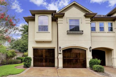 Houston Condo/Townhouse For Sale: 6210 Elm Heights Lane