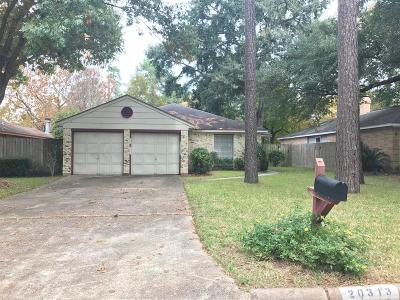 Humble Single Family Home For Sale: 20313 W Fieldtree Drive