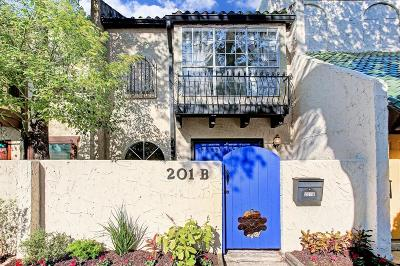 Houston Condo/Townhouse For Sale: 201 Avondale Street #B
