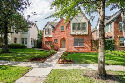 Houston Single Family Home For Sale: 2228 Robinhood Street