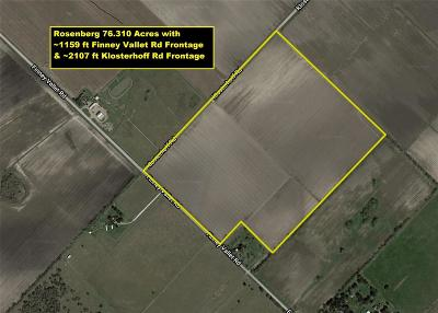 Fort Bend County Farm & Ranch For Sale: Finney Vallet And Klosterhoff Road