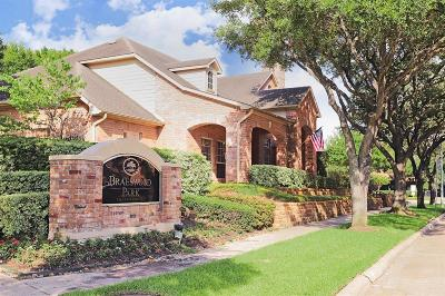 Houston Condo/Townhouse For Sale: 2255 Braeswood Park Drive #246