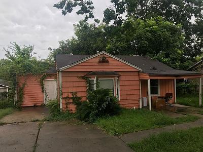 Houston TX Single Family Home For Sale: $99,900