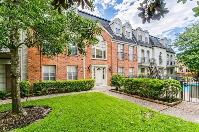 Houston Condo/Townhouse For Sale: 505 N Post Oak Lane #505